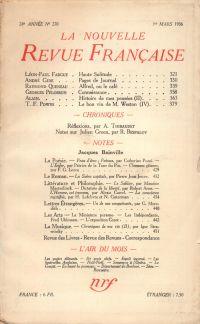 La Nouvelle Revue Française N° 270 (Mars 1936)