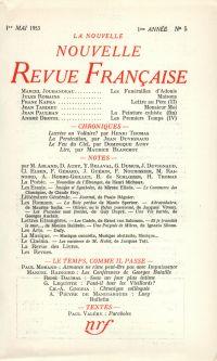 La Nouvelle Nouvelle Revue Française N' 5 (Mai 1953)