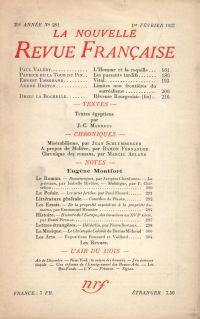 La Nouvelle Revue Française N° 281 (Février 1937)