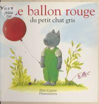 Le ballon rouge du petit chat gris