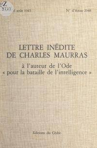 Lettre inédite de Charles M...