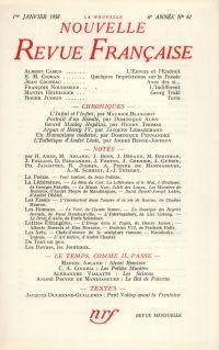La Nouvelle Nouvelle Revue Française N' 61 (Janvier 1958)