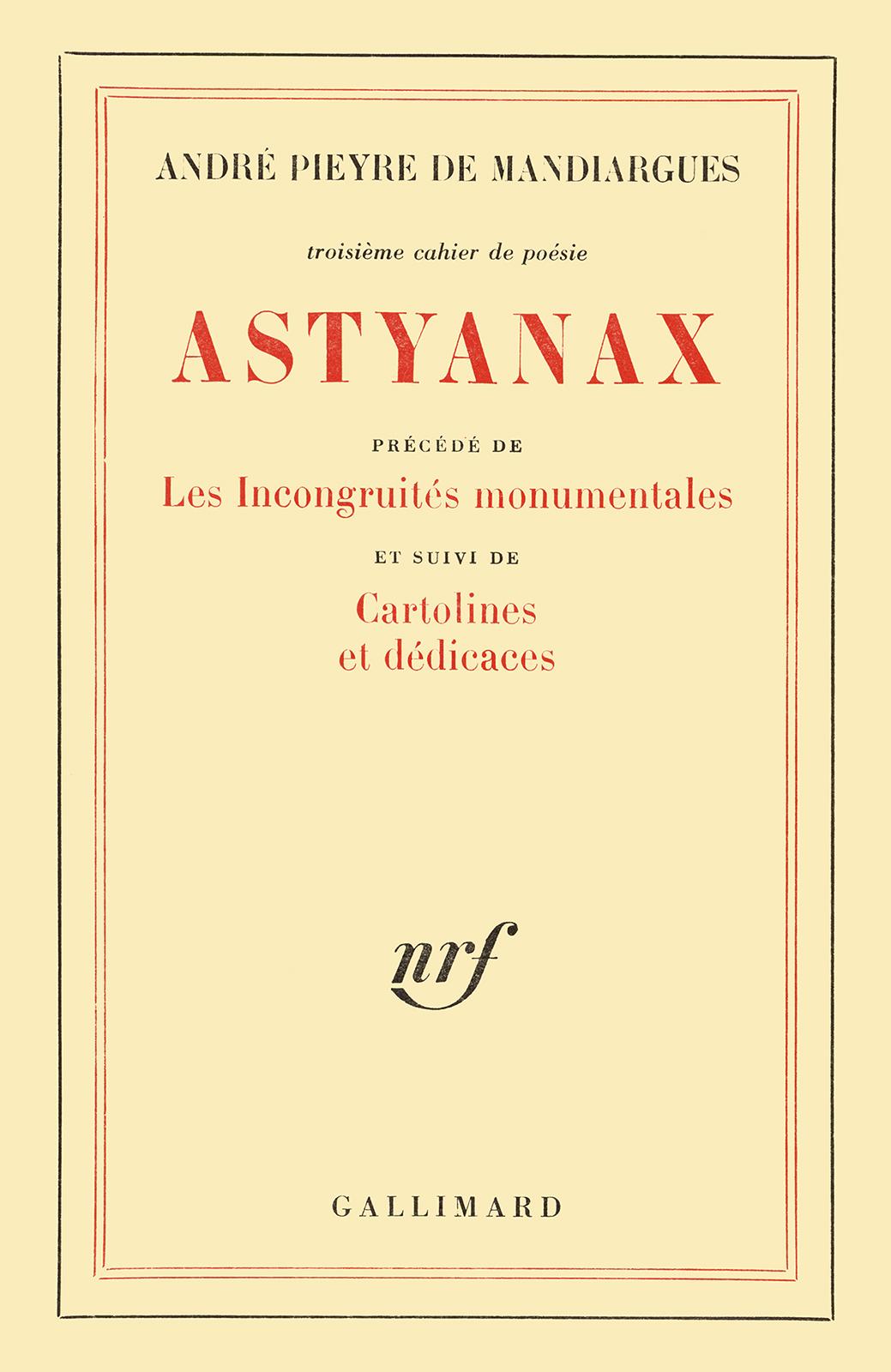 Astyanax / Cartolines et dédicaces / Les Incongruités monumentales