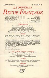 La Nouvelle Revue Française N' 105 (Septembre 1961)