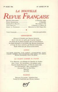 La Nouvelle Revue Française N' 159 (Mars 1966)