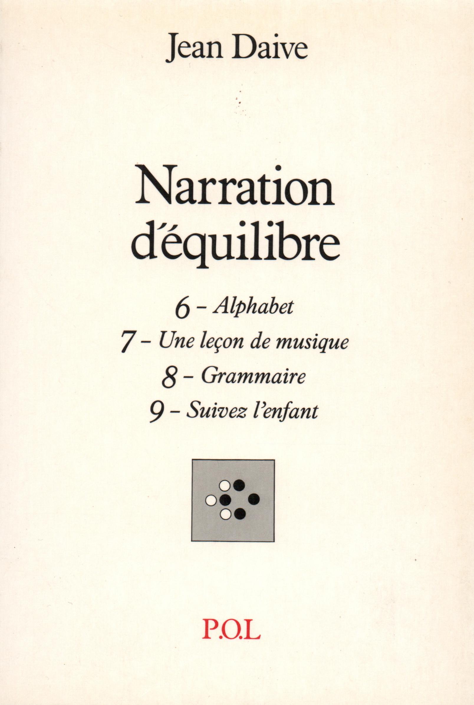 Narration d'équilibre VI, VII, VIII, IX