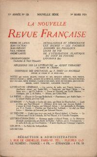 La Nouvelle Revue Française N' 126 (Mars 1924)
