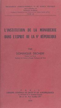 L'Institution de la monarch...