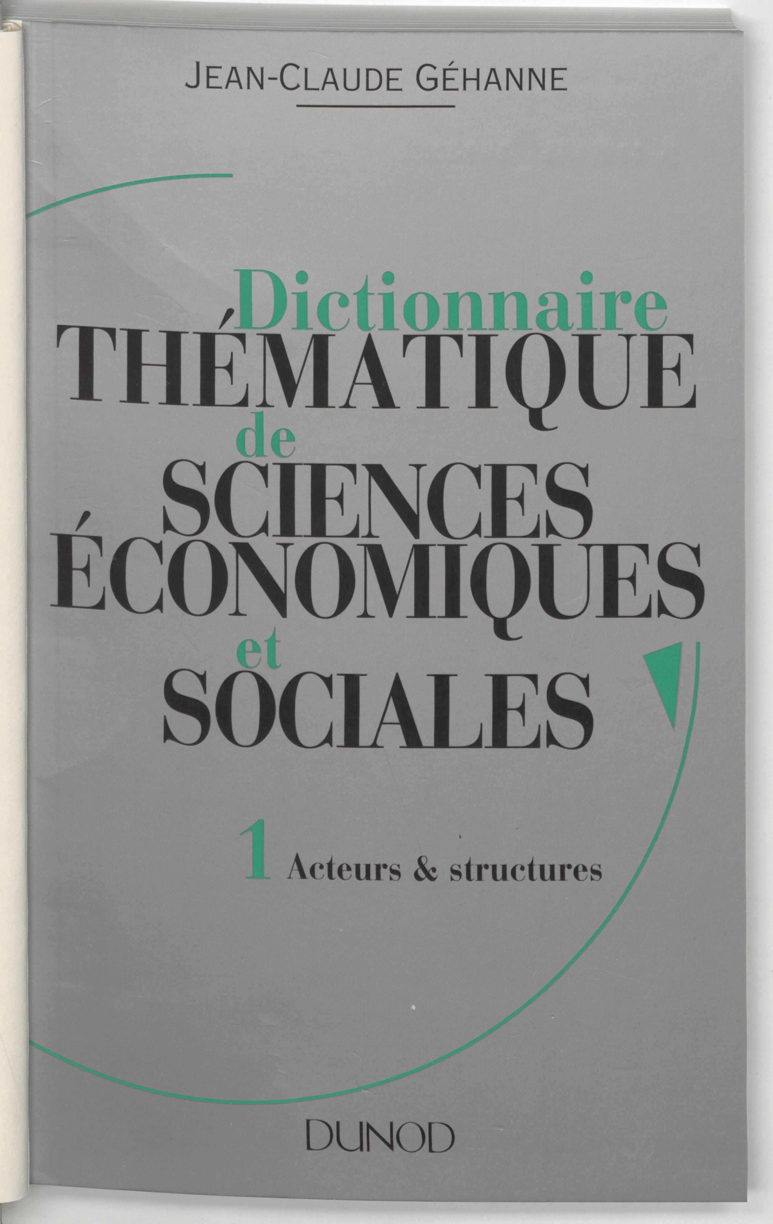 Dictionnaire thématique de ...
