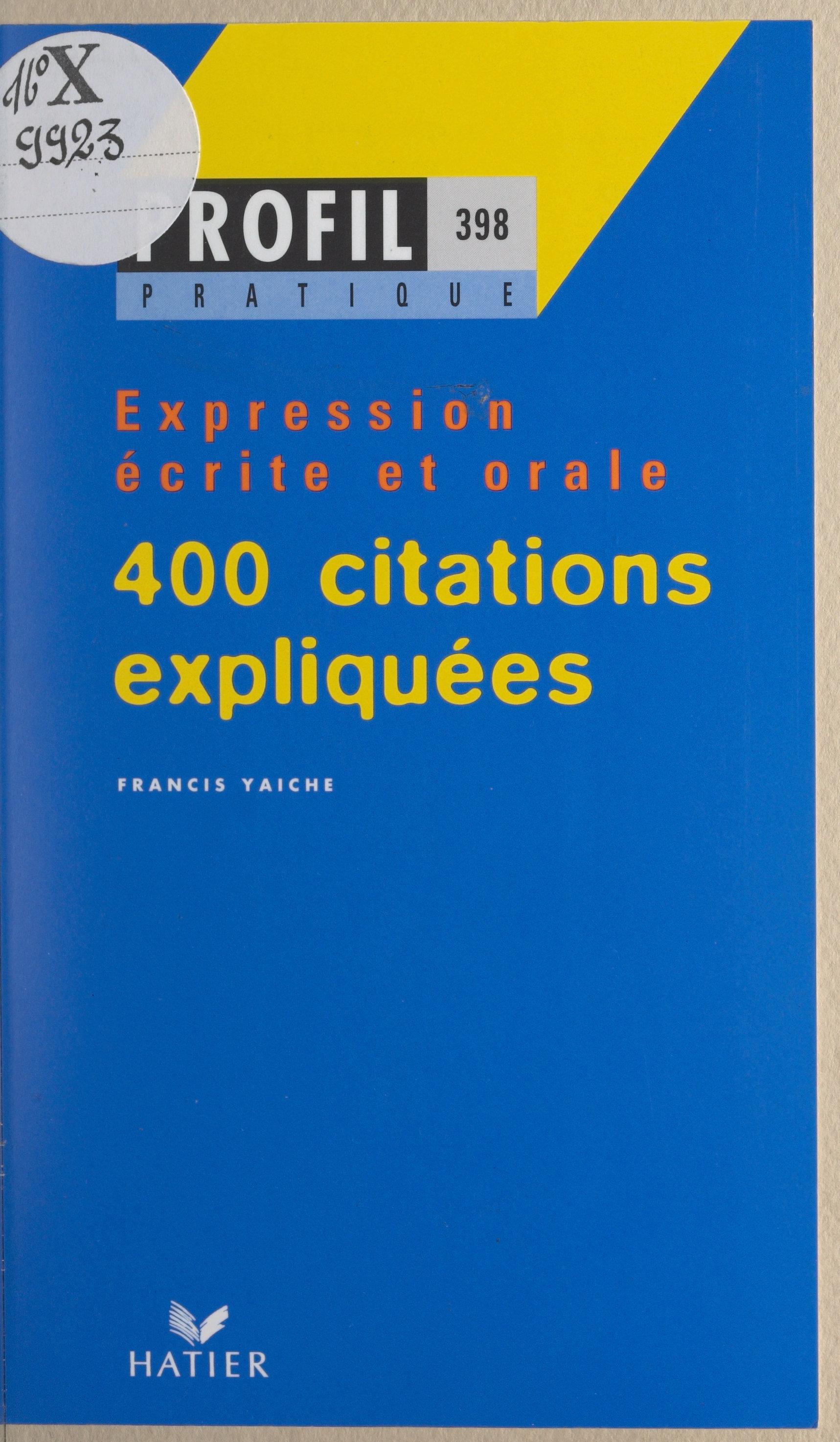 400 citations expliquées