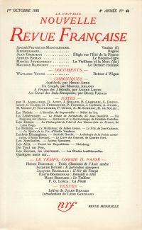 La Nouvelle Nouvelle Revue Française N' 46 (Octobre 1956)