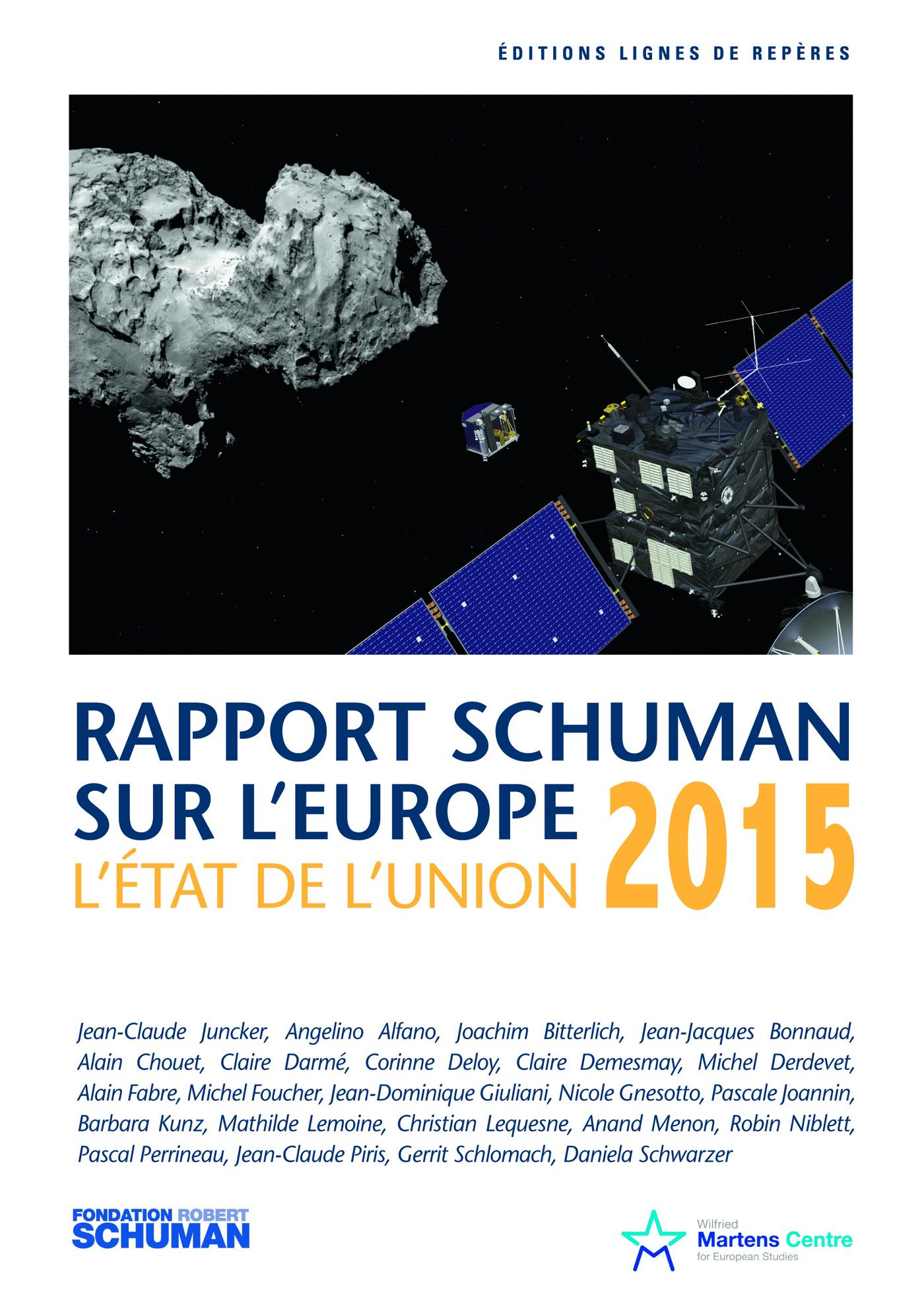 Etat de l'Union 2015, rapport Schuman sur l'Europe