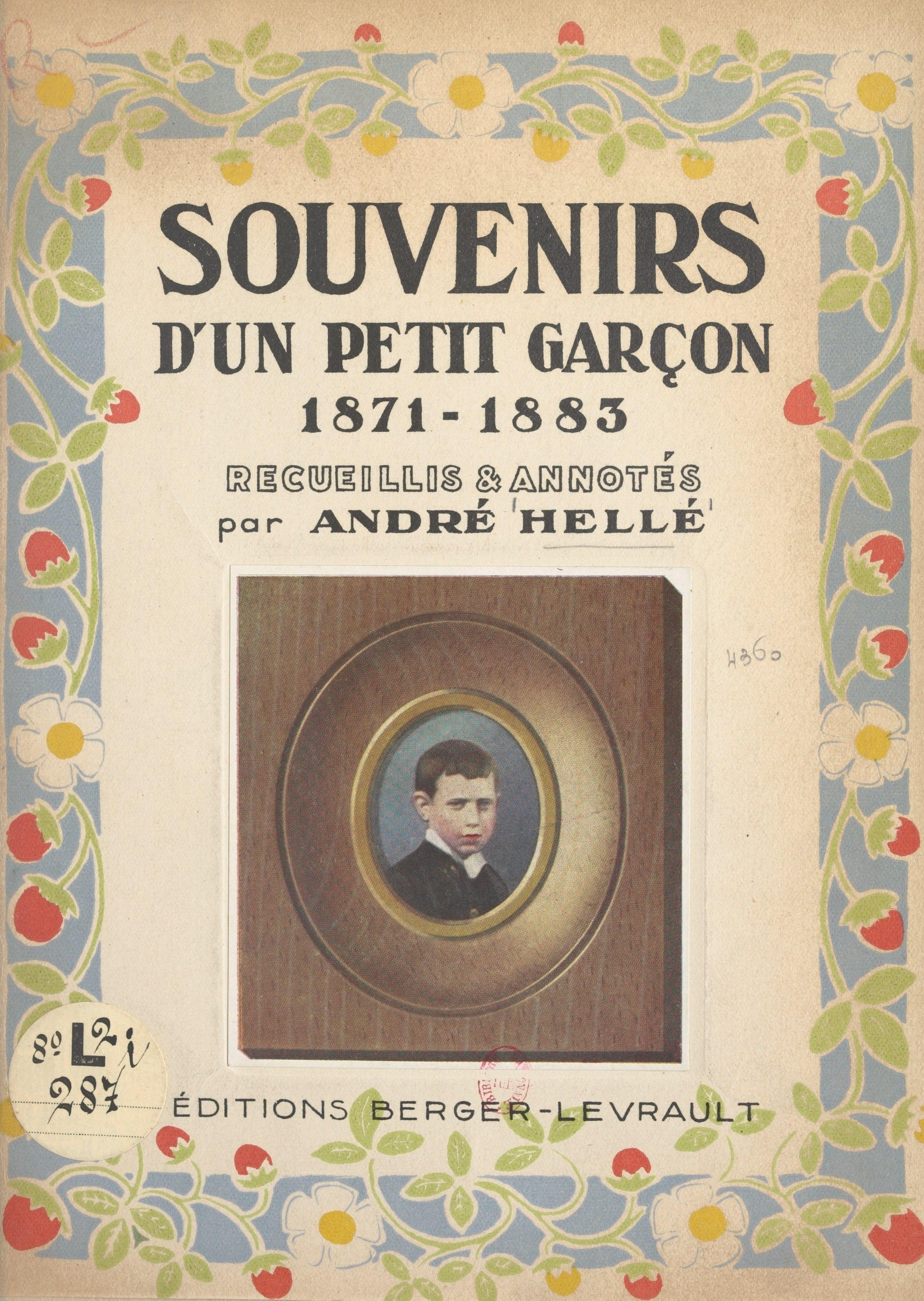 Souvenirs d'un petit garçon, 1871-1883