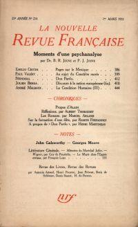 La Nouvelle Revue Française N° 234 (Mars 1933)