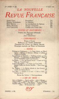 La Nouvelle Revue Française N° 248 (Mai 1934)