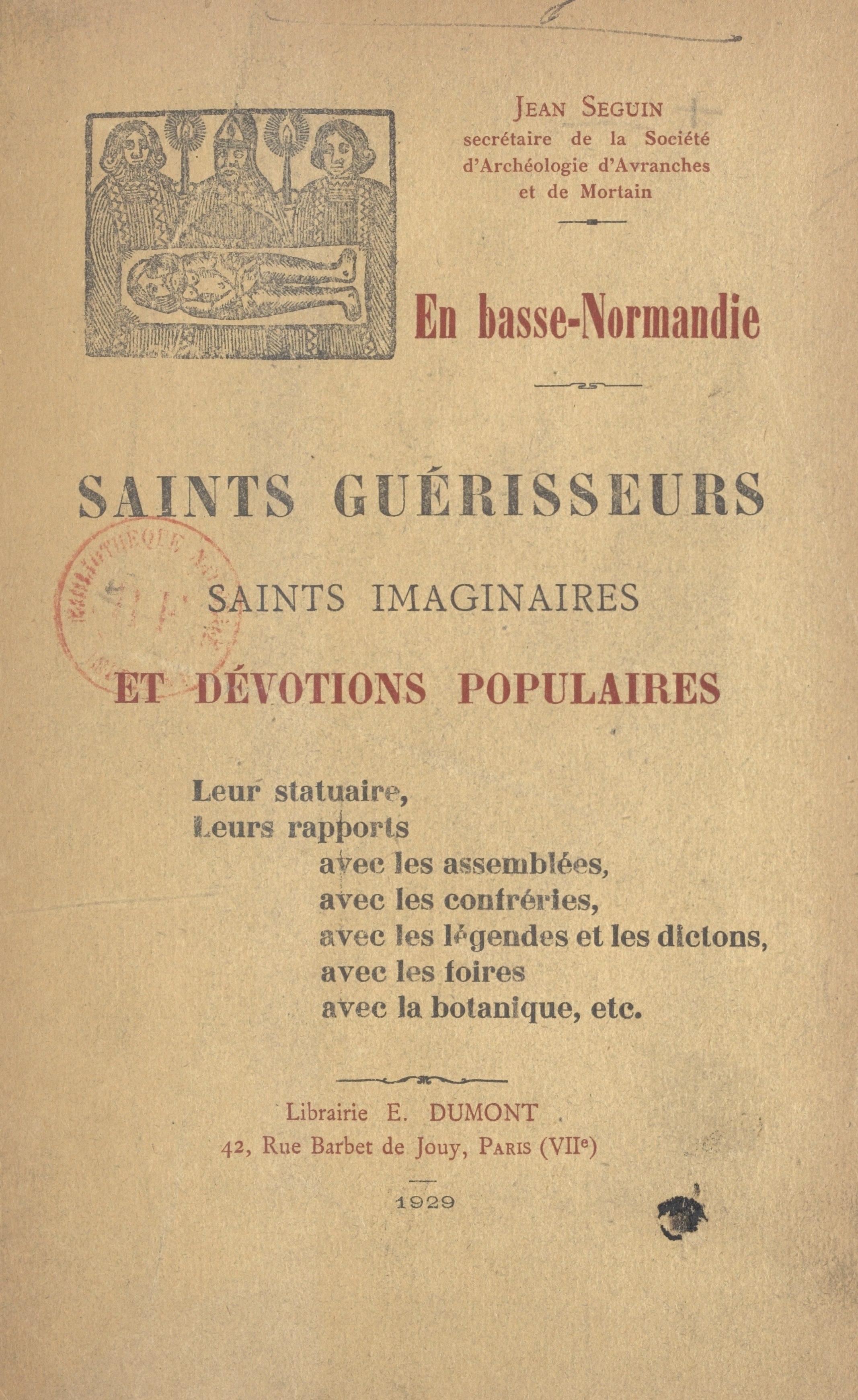 En Basse-Normandie. Saints ...