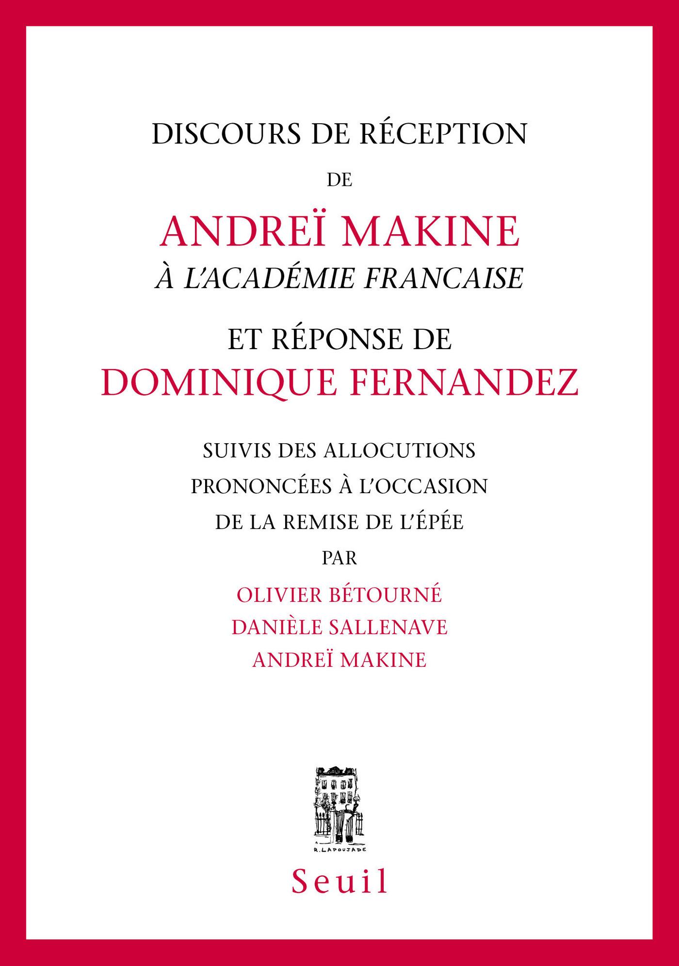 Discours de réception à l'Académie française et Réponse