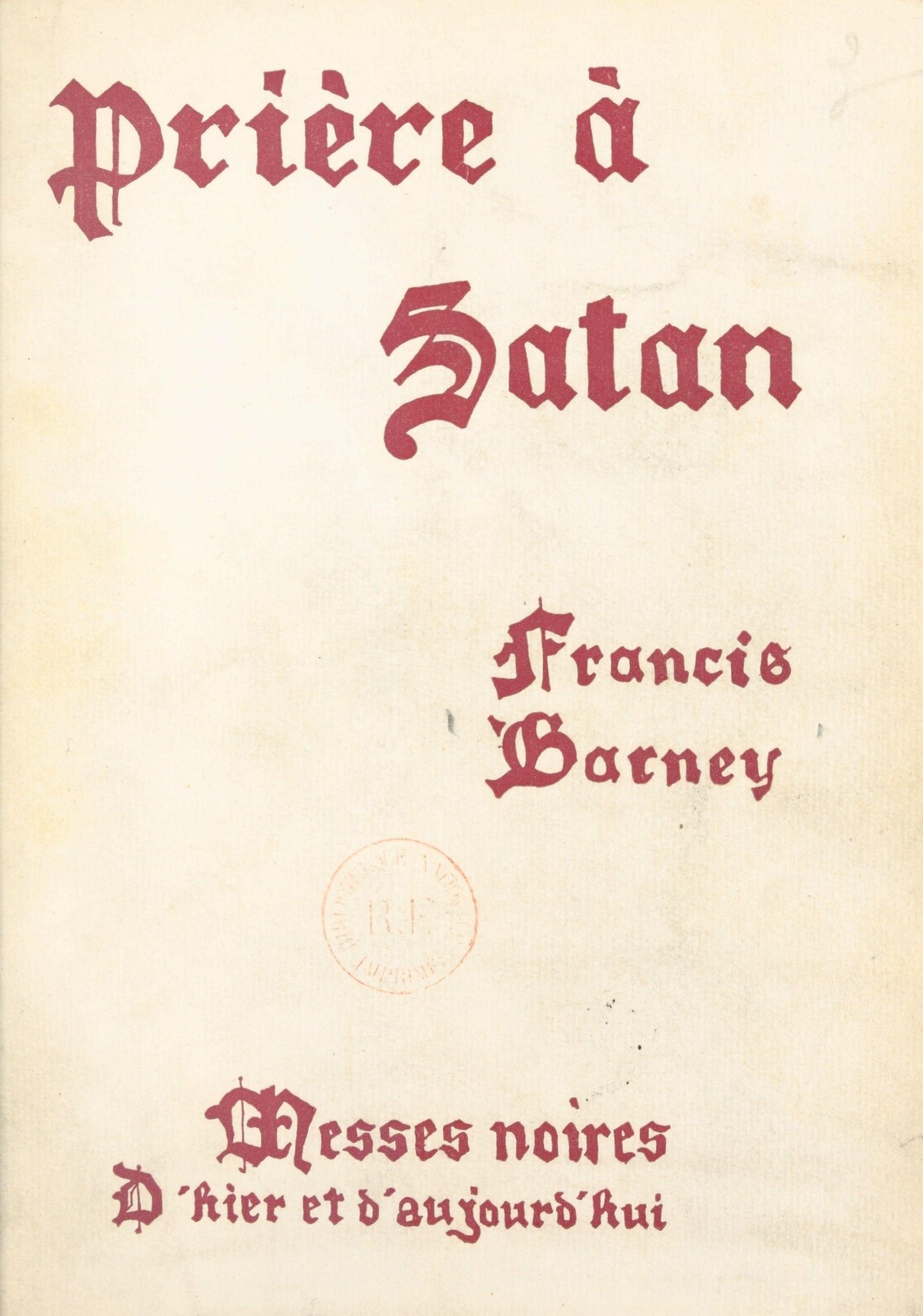 Prière à Satan