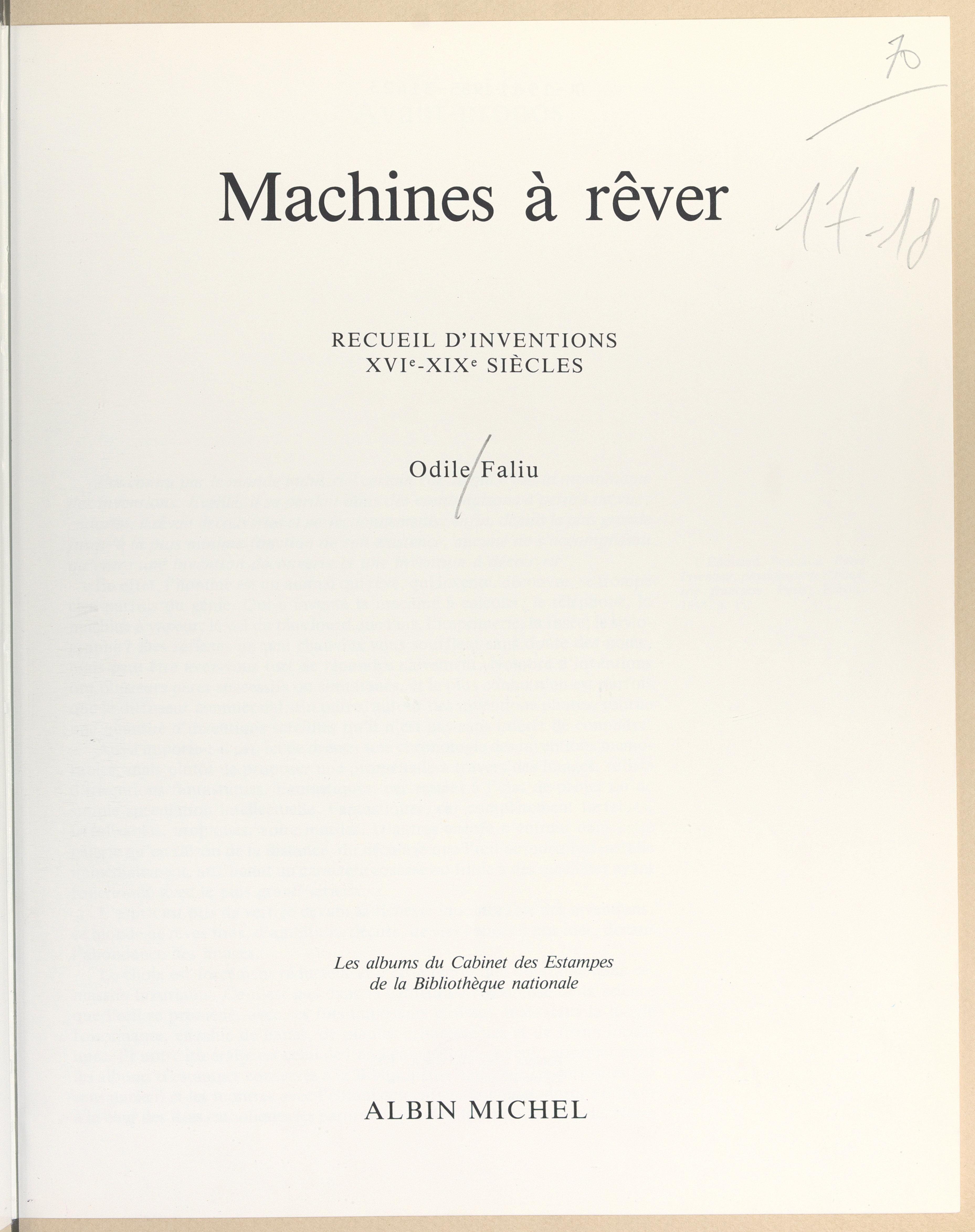 Machines à rêver