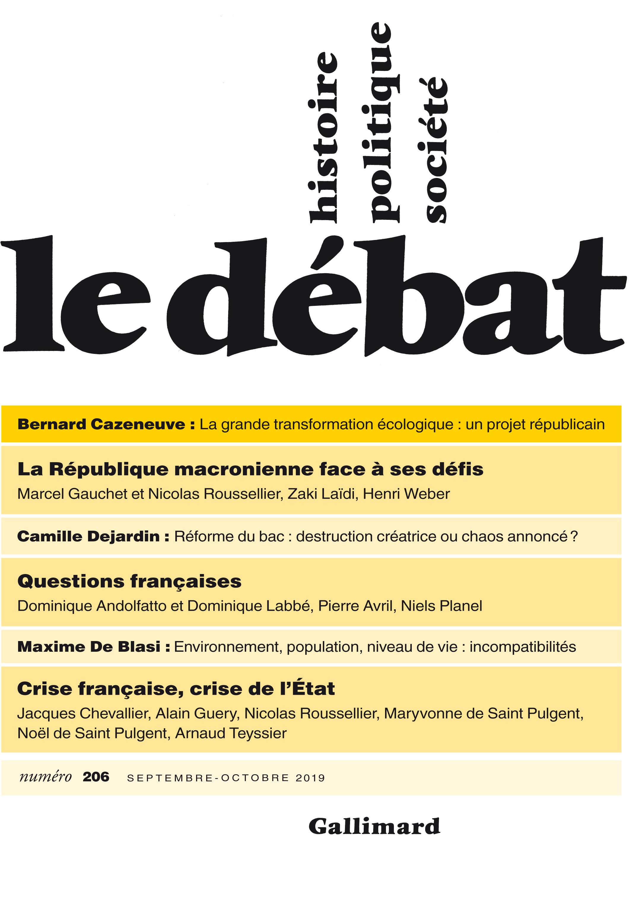 Le Débat N° 206 (Septembre - Octobre 2019)