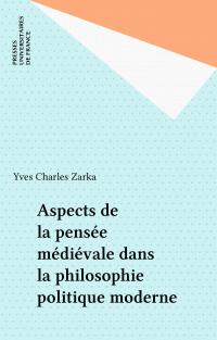 Aspects de la pensée médiév...