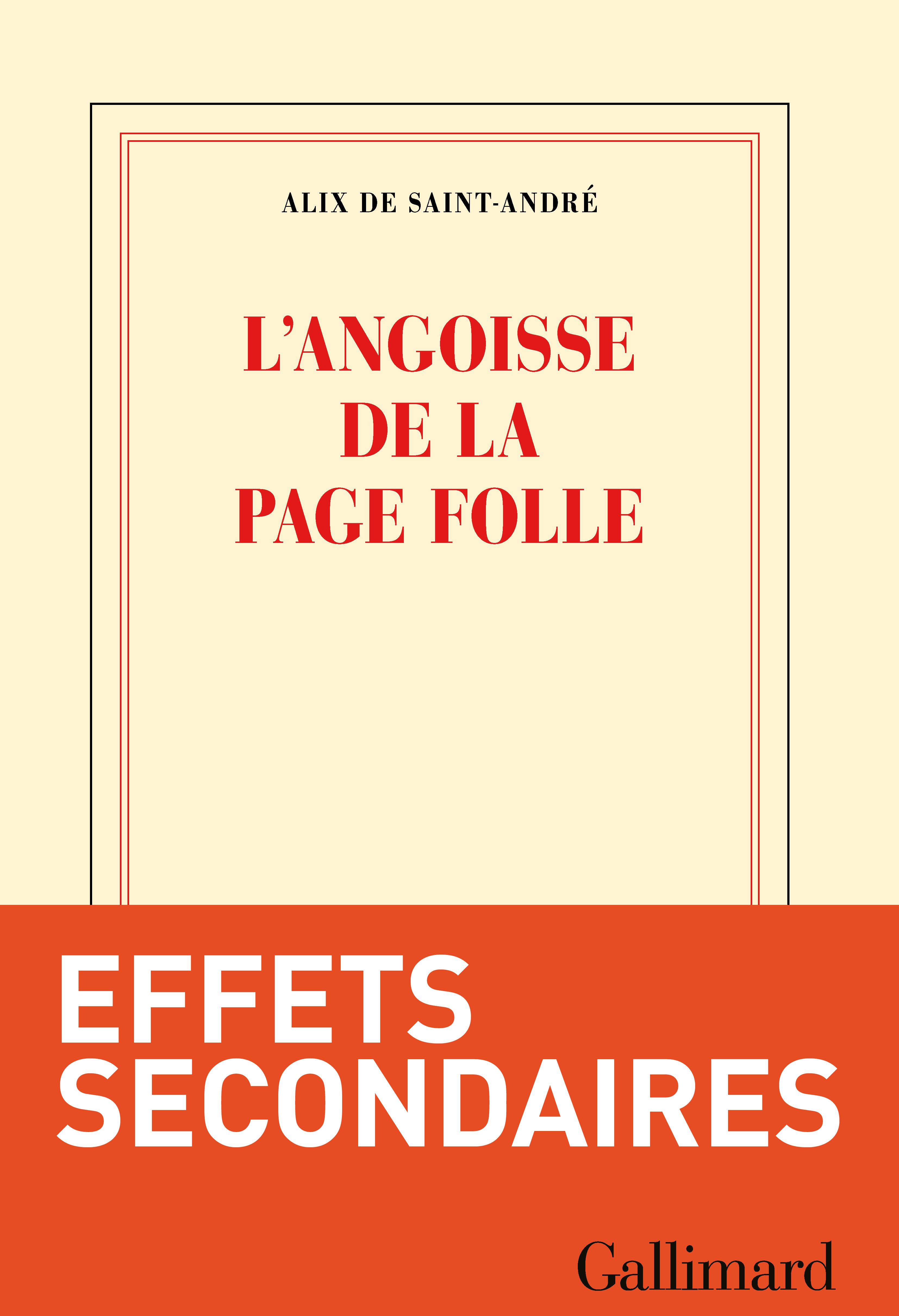 L'angoisse de la page folle | Saint-André, Alix de