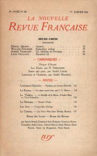 La Nouvelle Revue Française N' 220 (Janvier 1932)