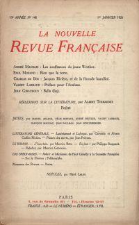 La Nouvelle Revue Française N' 148 (Janvier 1926)