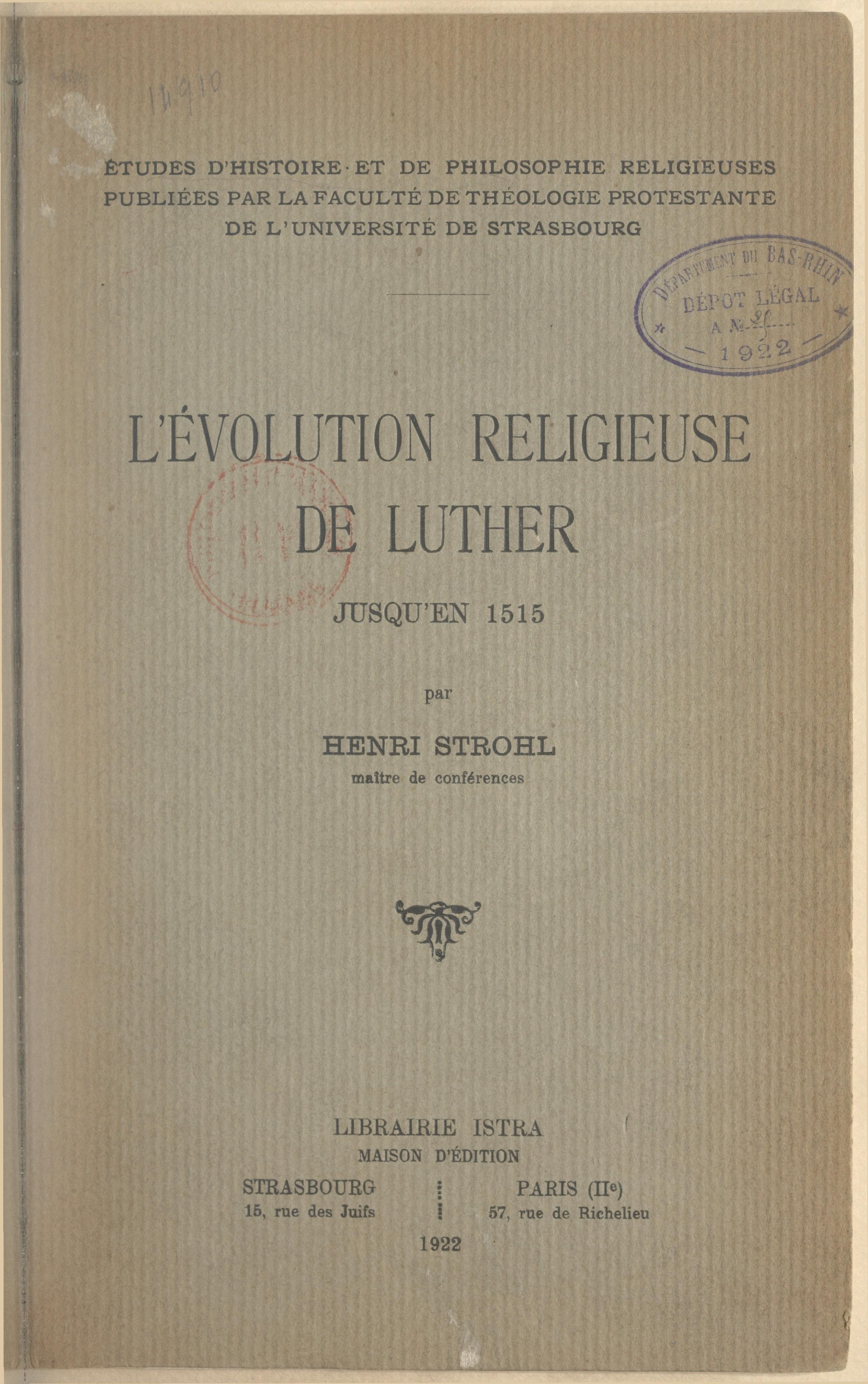 L'évolution religieuse de L...