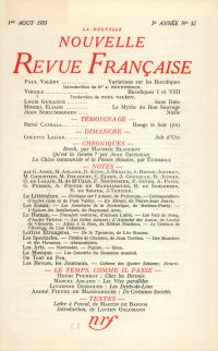 La Nouvelle Nouvelle Revue Française N' 32 (Aoűt 1955)