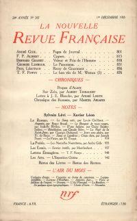 La Nouvelle Revue Française N° 267 (Décembre 1935)