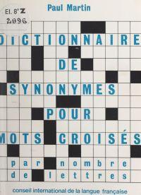 Dictionnaire de synonymes p...