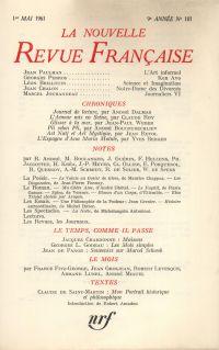 La Nouvelle Revue Française N' 101 (Mai 1961)