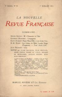 La Nouvelle Revue Française N' 31 (Juillet 1911)