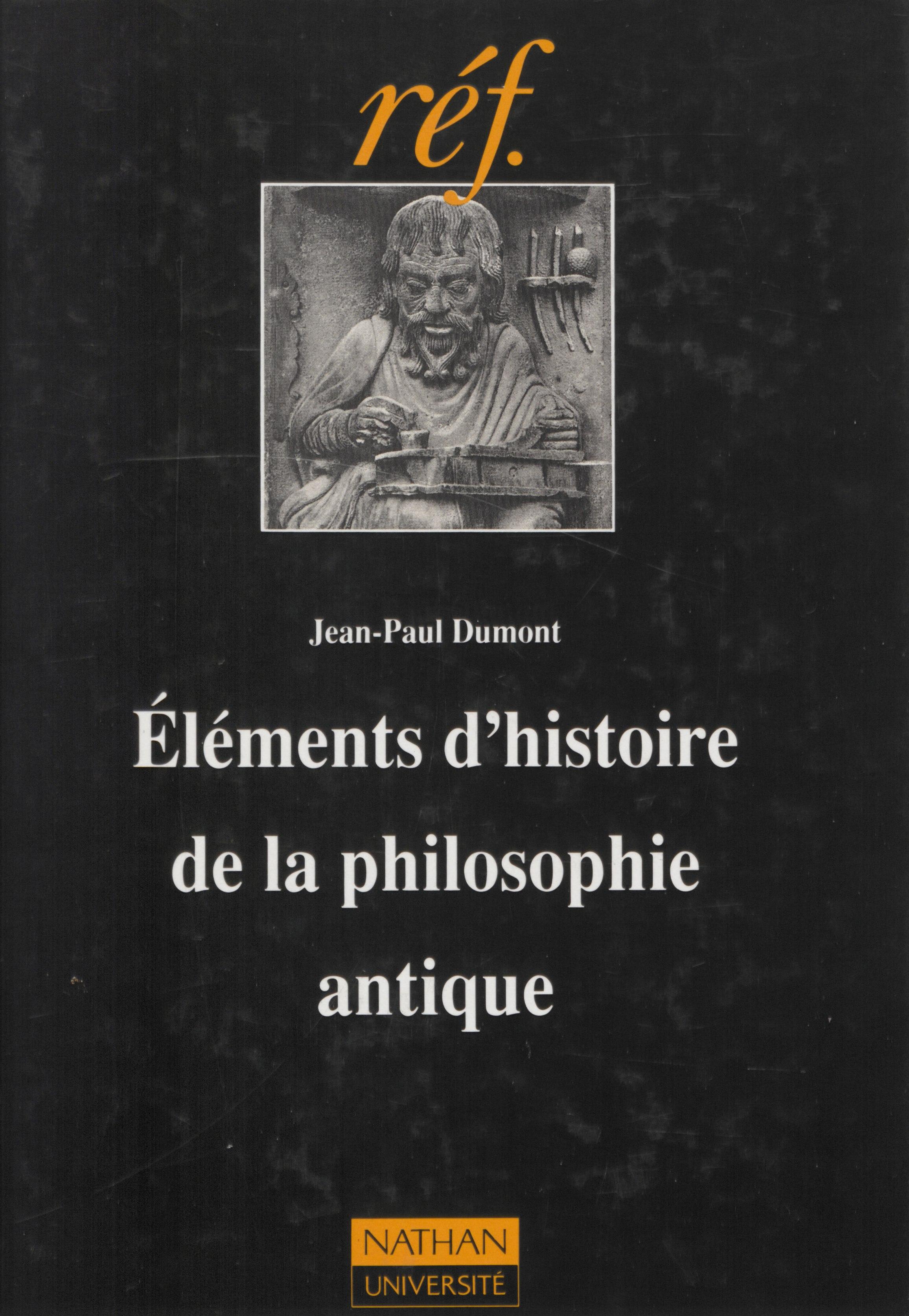 Éléments d'histoire de la philosophie antique