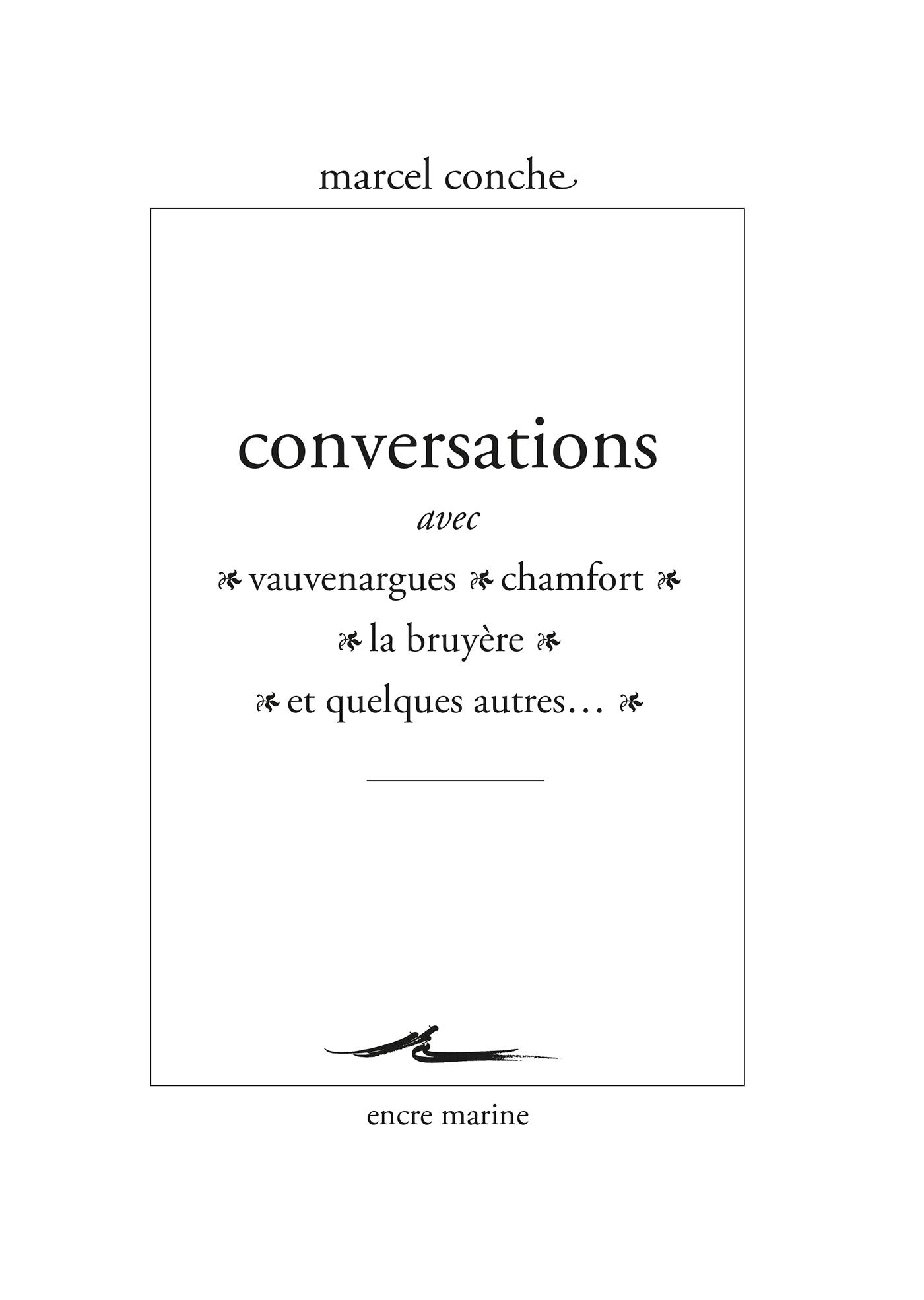 Conversations avec Vauvenar...