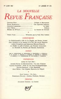 La Nouvelle Revue Française N' 174 (Juin 1967)
