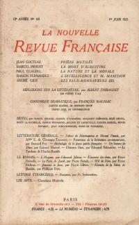 La Nouvelle Revue Française N' 141 (Juin 1925)