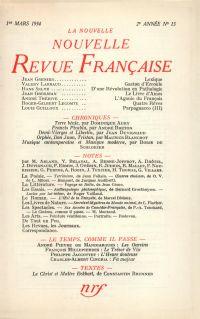 La Nouvelle Nouvelle Revue Française N' 15 (Mars 1954)