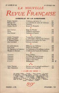 Gobineau et le gobinisme N° 245 (Février 1934)