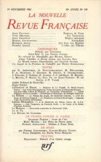 La Nouvelle Revue Française N' 119 (Novembre 1962)