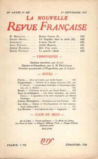 La Nouvelle Revue Française N° 288 (Septembre 1937)
