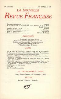 La Nouvelle Revue Française N' 125 (Mai 1963)
