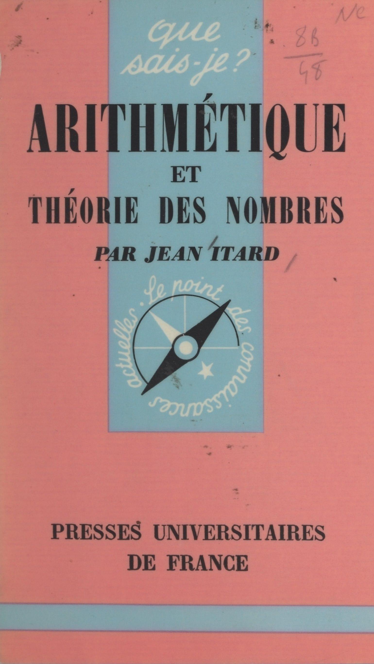 Arithmétique et théorie des nombres