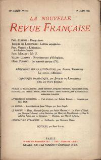 La Nouvelle Revue Française N' 153 (Juin 1926)