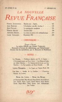 La Nouvelle Revue Française N' 221 (Février 1932)
