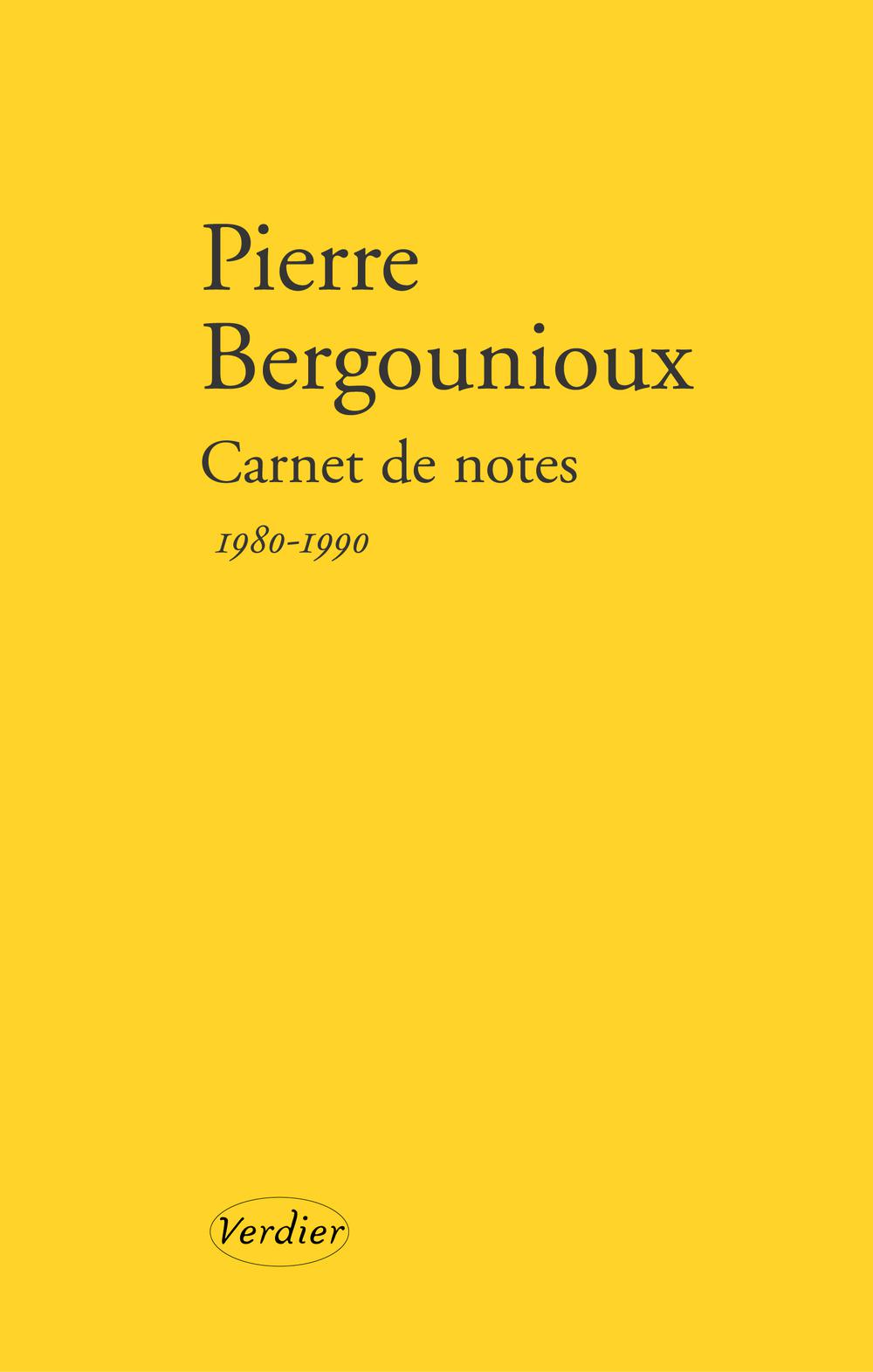Carnet de notes 1980 - 1990