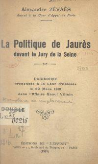 La politique de Jaurès deva...