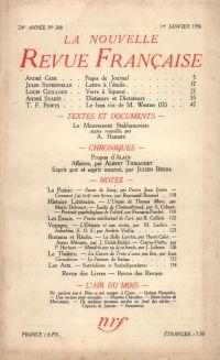 La Nouvelle Revue Française N° 268 (Janvier 1936)