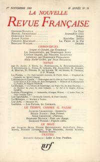 La Nouvelle Revue Française N' 95 (Novembre 1960)